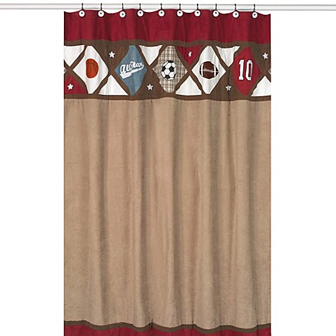 Sweet Jojo Designs All Star Sports Collection Shower Curtain Bed Bath Beyond