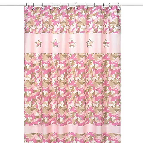Sweet Jojo Designs Pink Camo Collection Shower Curtain