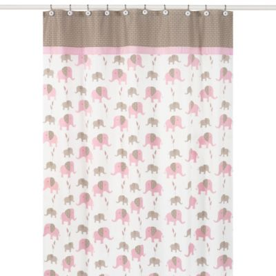 bed bath and beyond bathroom curtains. Sweet Jojo Designs Pink and Taupe Mod Elephant Collection Shower Curtain Buy Bathroom Curtains from Bed Bath  Beyond