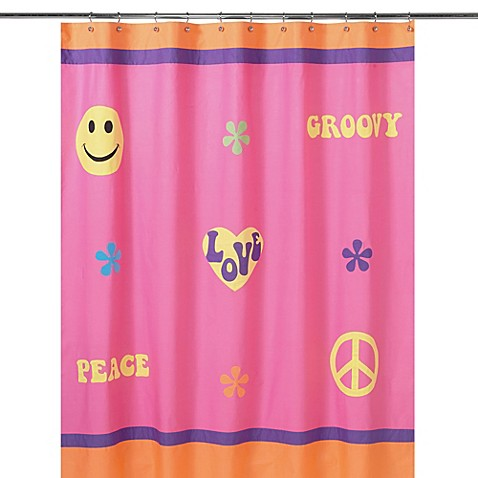 Sweet jojo designs groovy collection shower curtain bed for Sweet jojo designs bathroom