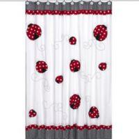 Sweet Jojo Designs Little Ladybug Shower Curtain