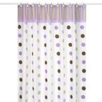 Sweet Jojo Designs Mod Dots Shower Curtain In Purple