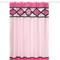 Sweet Jojo Designs Soccer Shower Curtain in Pink