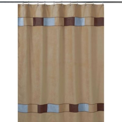 Sweet Jojo Designs Soho Shower Curtain In Brown And Blue