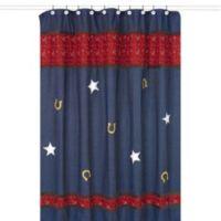 Sweet Jojo Designs Wild West Cowboy Shower Curtain in Denim