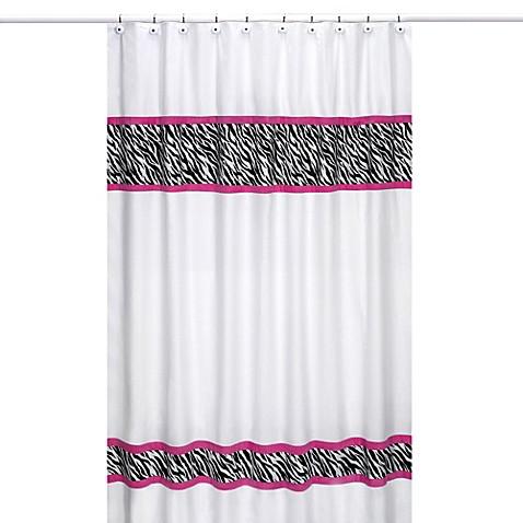 Sweet Jojo Designs Funky Zebra Shower Curtain In Pink Bed Bath Beyond