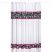 Sweet Jojo Designs Funky Zebra Shower Curtain in Pink