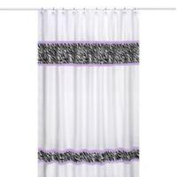 Sweet Jojo Designs Funky Zebra Shower Curtain in Purple