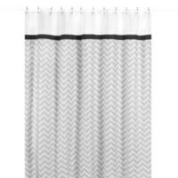 Sweet Jojo Designs Zig Zag Shower Curtain in Black and Grey