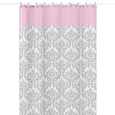 pink grey shower curtain. Sweet Jojo Designs Elizabeth Shower Curtain Buy Grey and White Kids Curtains from Bed Bath  Beyond