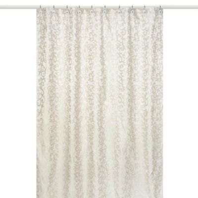 Buy Beige Fabric Shower Curtain from Bed Bath & Beyond