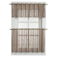 Samantha 36-Inch Sheer Window Curtain Tier Pair in Taupe