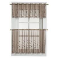 Samantha Sheer Window Curtain Valance in Taupe
