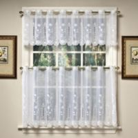 Samantha 36-Inch Sheer Window Curtain Tier Pairs in White