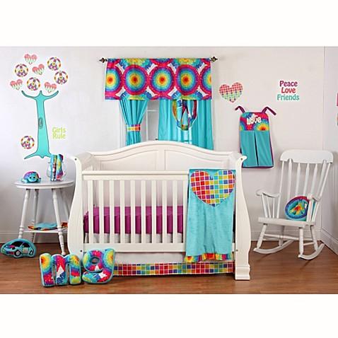 One Grace Place Terrific Tie Dye Crib Bedding Set