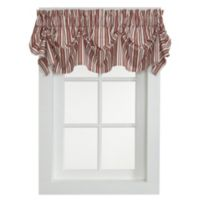 Gabrielle 16-Inch Tucked Pleat Valance in Rust