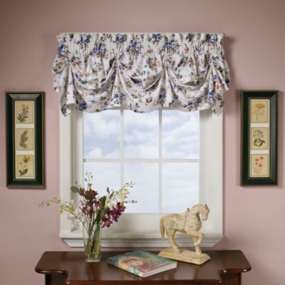 buy blue pleat valance from bed bath & beyond