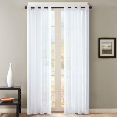 Skyline 95 Inch Sheer Grommet Window Curtain Panel