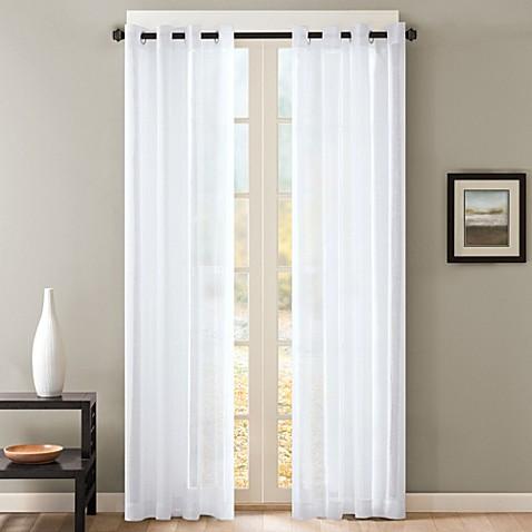 Skyline Sheer Grommet Window Curtain Panels Bed Bath