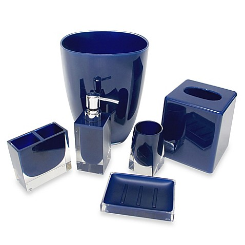 Memphis Bathroom Accessories In Nautical Blue Bed Bath Beyond