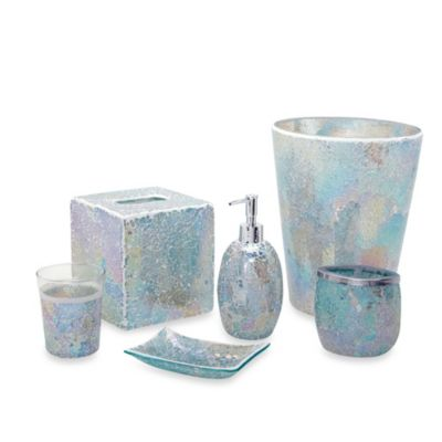 Buy glass toothbrush holder from bed bath beyond for Glass bathroom accessories sets