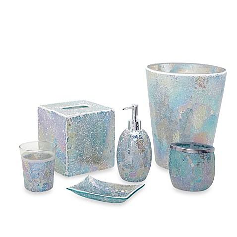 India Ink Aurora Pastel Cracked Glass Bath Accessory