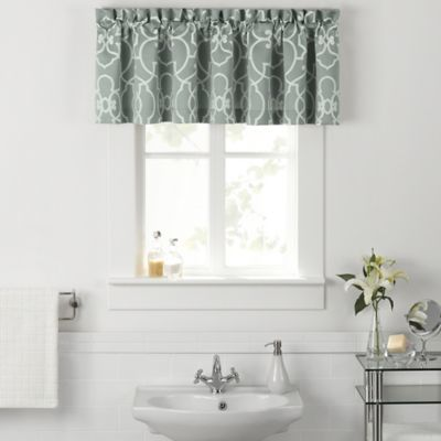 Vue  Signature Iron Gates Bathroom Window Valance. Buy Valances for Bathrooms from Bed Bath   Beyond