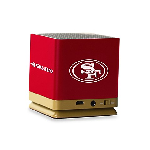 Nfl san francisco 49ers bluetooth speaker bed bath beyond for 49ers bathroom decor