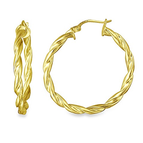 gold plating jewelry service near me 18k gold plated twisted hoop earrings www 3257