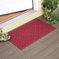 Weather Guard™ Ellipse 2-Foot x 3-Foot Door Mat in Red/Black