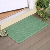Weather Guard™ Diamonds 23-Inch x 35-Inch Door Mat in Light Green