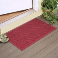Weather Guard™ Diamonds 23-Inch x 35-Inch Door Mat in Red/Black