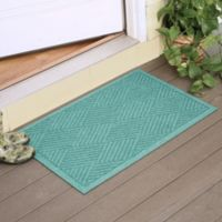 Weather Guard™ Diamonds 23-Inch x 35-Inch Door Mat in Aquamarine