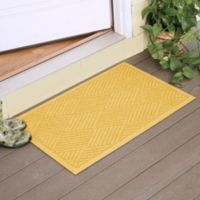 Weather Guard™ Diamonds 23-Inch x 35-Inch Door Mat in Yellow