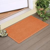 Weather Guard™ Diamonds 23-Inch x 35-Inch Door Mat in Orange