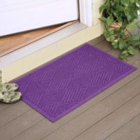 Weather Guard™ Diamonds 23-Inch x 35-Inch Door Mat in Purple