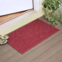 Weather Guard™ Boxwood 23-Inch x 35-Inch Door Mat in Red/Black