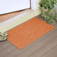 Weather Guard™ Boxwood 23-Inch x 35-Inch Door Mat in Orange