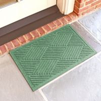 Weather Guard™ Diamonds 18-Inch x 28-Inch Door Mat in Light Green