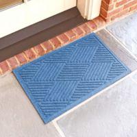 Weather Guard™ Diamonds 18-Inch x 28-Inch Door Mat in Medium Blue