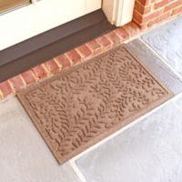 Weather Guard™ Boxwood 18-Inch x 28-Inch Door Mat in Medium Brown