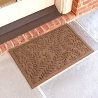 Weather Guard™ Boxwood 18-Inch x 28-Inch Door Mat in Dark Brown