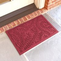 Weather Guard™ Boxwood 18-Inch x 28-Inch Door Mat in Red/Black