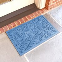 Weather Guard™ Boxwood 18-Inch x 28-Inch Door Mat in Medium Blue