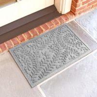 Weather Guard™ Boxwood 18-Inch x 28-Inch Door Mat in Medium Grey