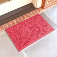 Weather Guard™ Boxwood 18-Inch x 28-Inch Door Mat in Solid Red