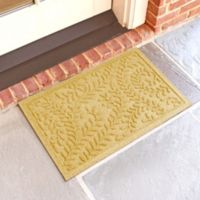 Weather Guard™ Boxwood 18-Inch x 28-Inch Door Mat in Yellow