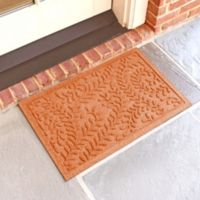 Weather Guard™ Boxwood 18-Inch x 28-Inch Door Mat in Orange