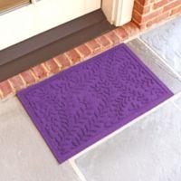 Weather Guard™ Boxwood 18-Inch x 28-Inch Door Mat in Purple