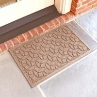 Weather Guard™ Ellipse 18-Inch x 28-Inch Door Mat in Medium Brown